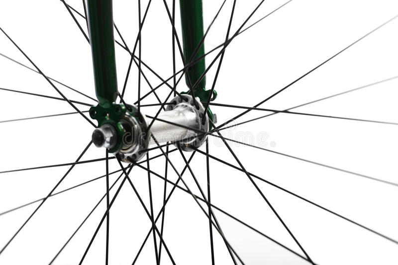 Bicycle spokes stock images