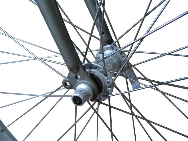 Bicycle Spokes (isolated) Royalty Free Stock Image