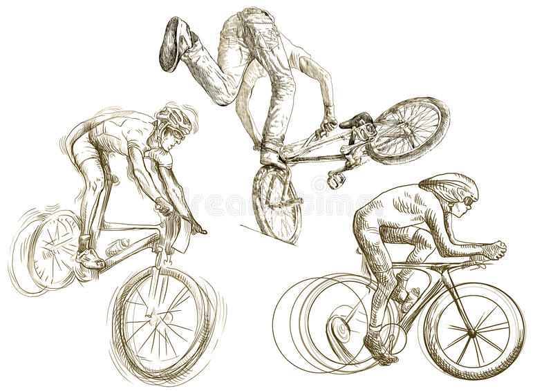 Download Bicycle sport stock vector. Image of drawing, cartoon - 25696855