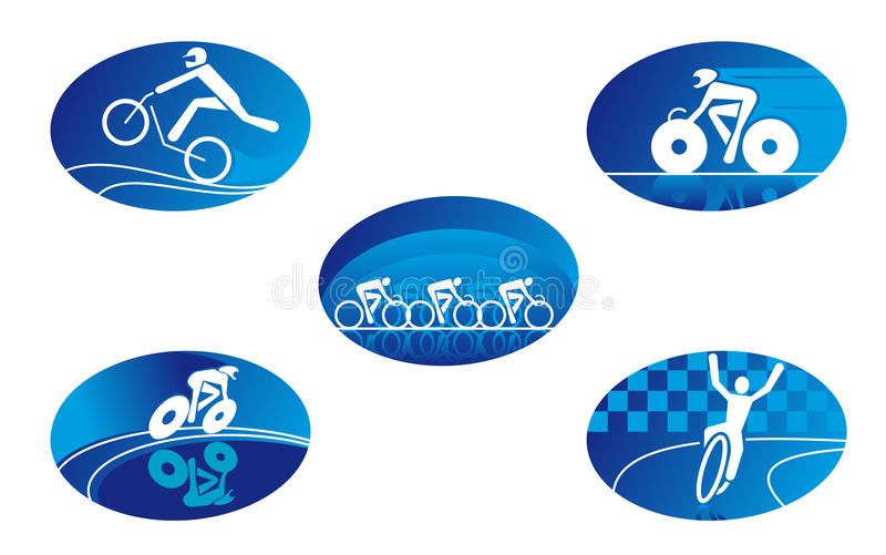 Bicycle sport icons stock images