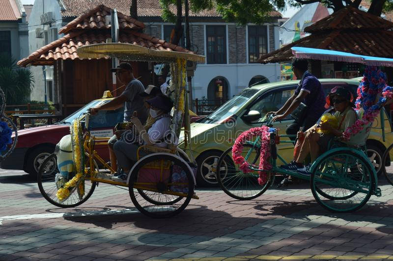Colourfull Bicycle at Stadhuys Malacca royalty free stock photos