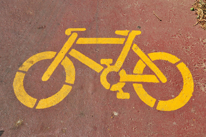 Download Bicycle stencil stock photo. Image of asphalt, paint - 32853348