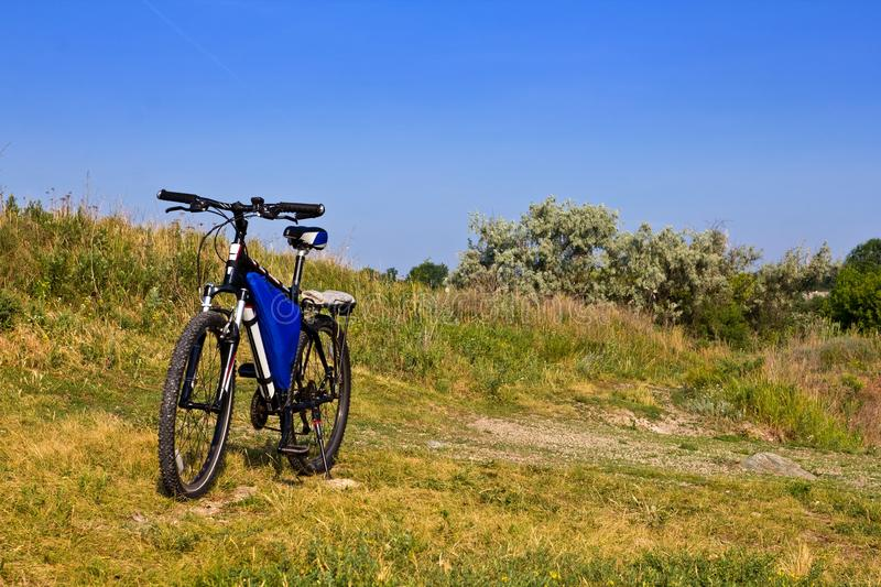 Download Bicycle in a steppe stock image. Image of bicycle, sport - 25180553