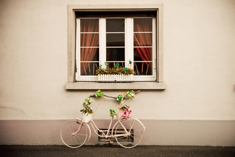 Download Bicycle with ties stock image. Image of architecture - 25416683