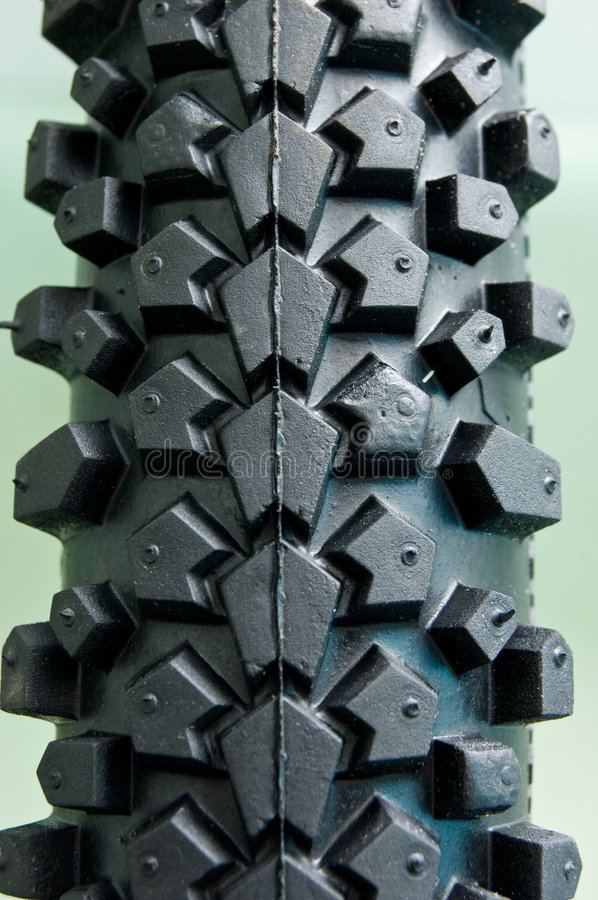 Bicycle tire close-up royalty free stock images