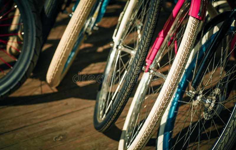 Bicycle, tire wheels vintage hipsters toning. Bike royalty free stock photo