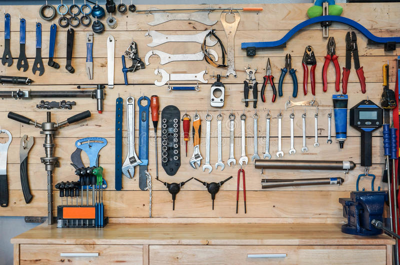 Bicycle tools stock image