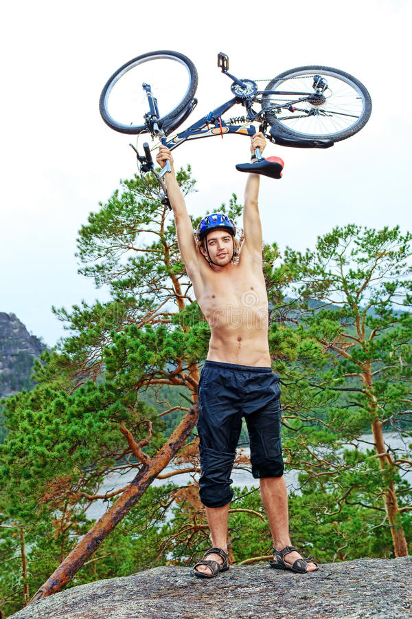 Download Bicycle On Top Royalty Free Stock Photos - Image: 26415018