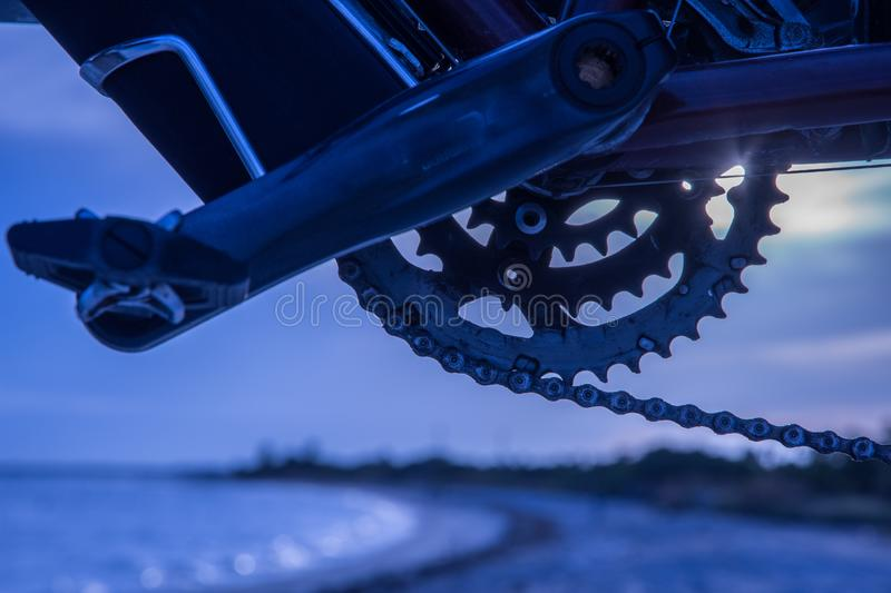 Traveling with Gears stock photo
