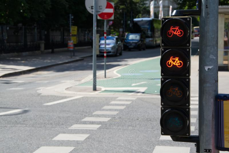 Bicycle traffic light royalty free stock image