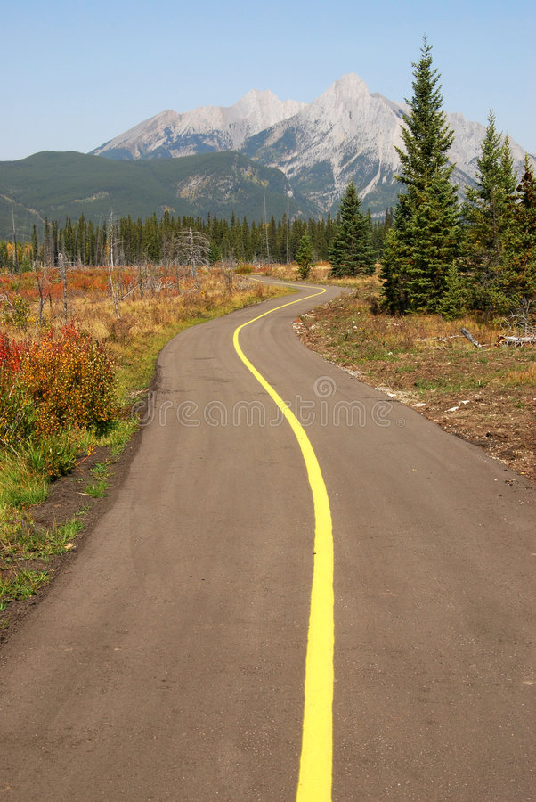 Download Bicycle trail stock image. Image of fall, alberta, colorful - 7092469