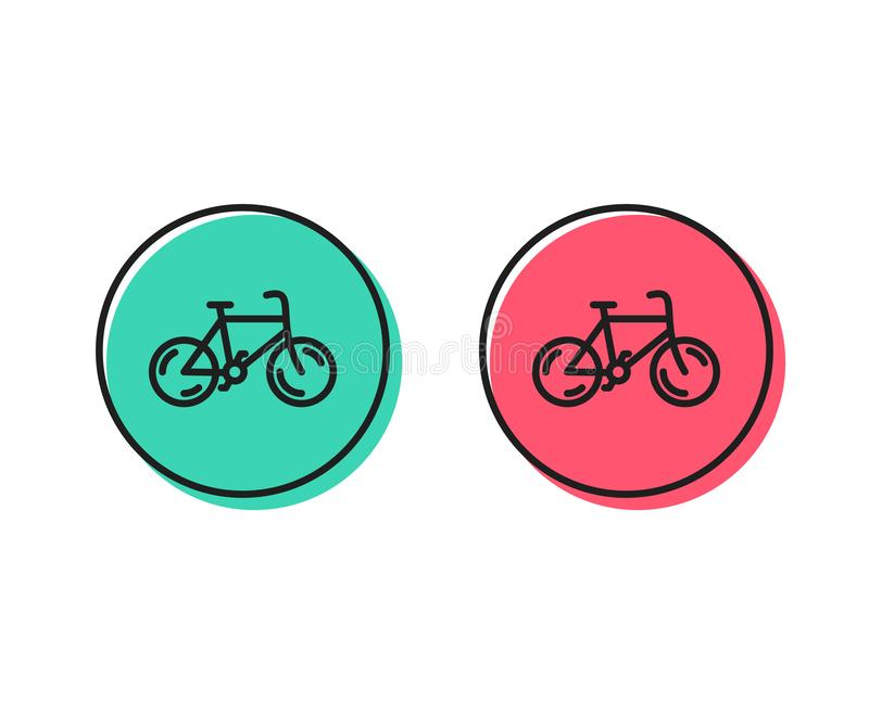 Bicycle transport line icon. Bike public transportation sign. Vector vector illustration