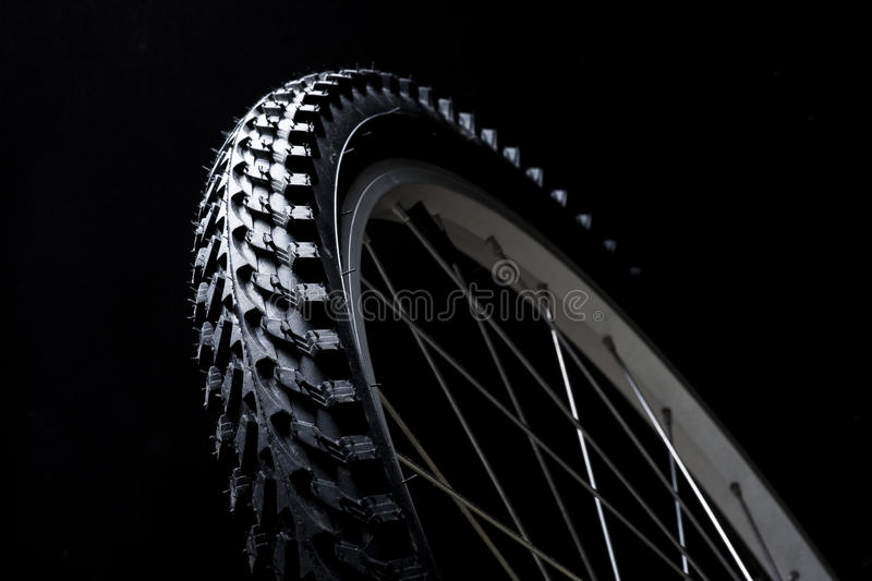 Bicycle tyre stock photography