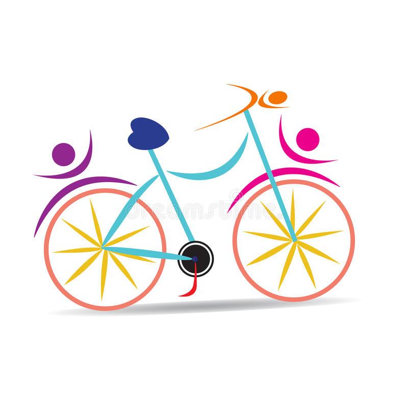Bicycle. Vector drawing isolated in white background stock illustration