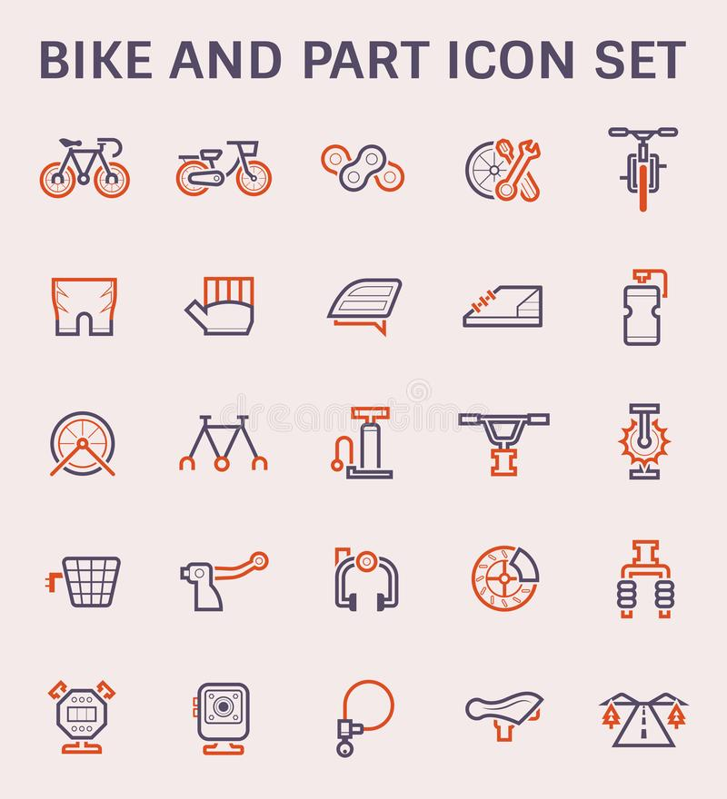 Bicycle vector icon stock illustration