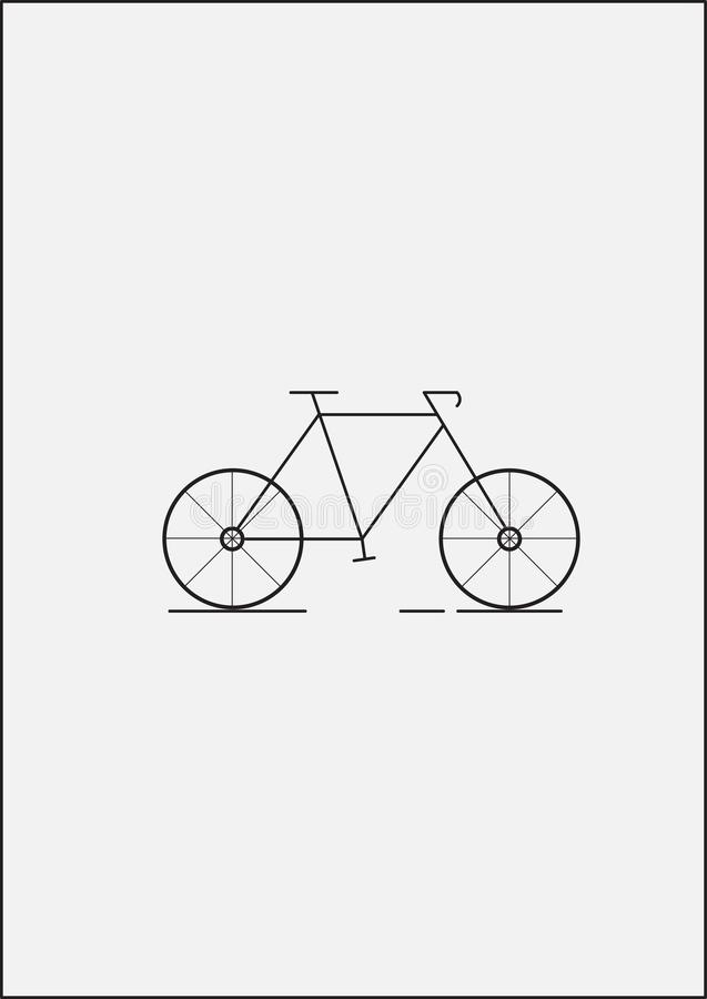 Bicycle vector illustration with white background royalty free stock photography
