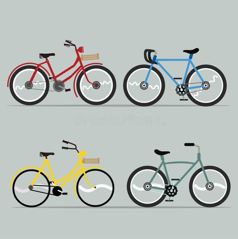 Bicycle vector set collection for design royalty free illustration