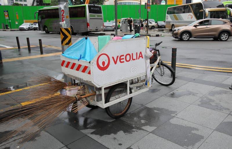 Veolia cleaning Singapore stock photos