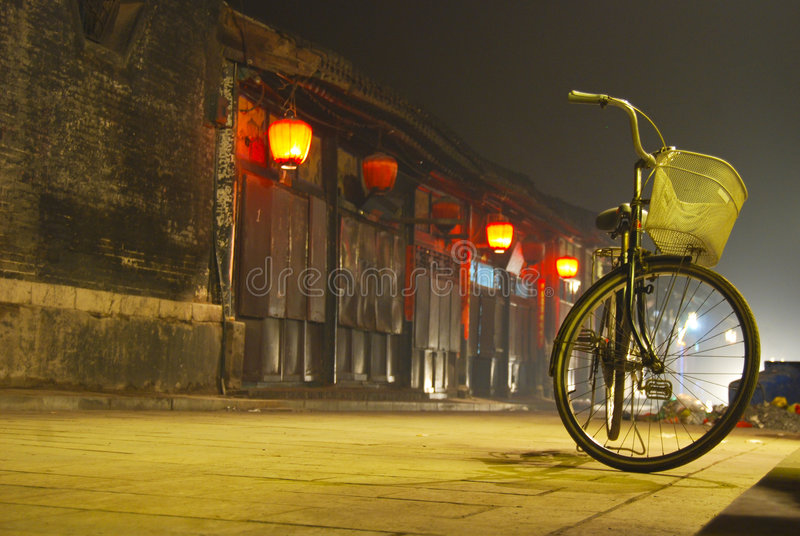 Bicycle in Village royalty free stock photo