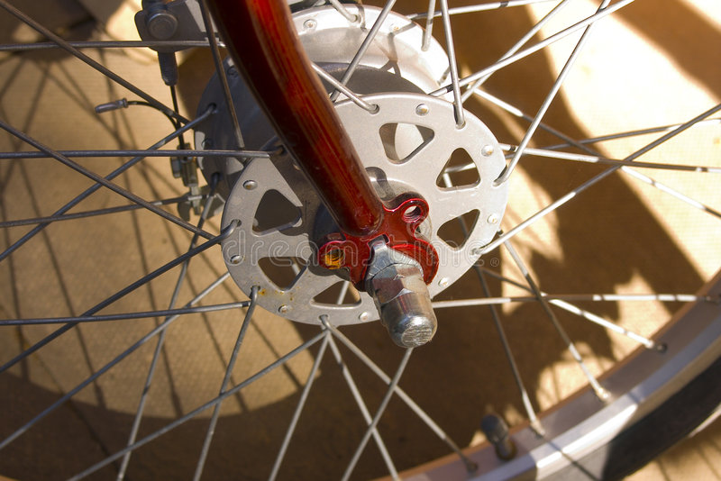 Bicycle wheel. Cog machinery engineering royalty free stock image