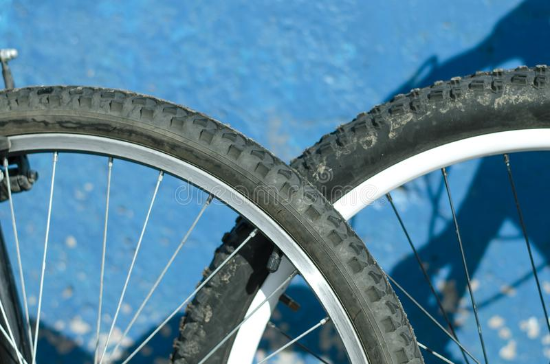 Bicycle wheels. royalty free stock images