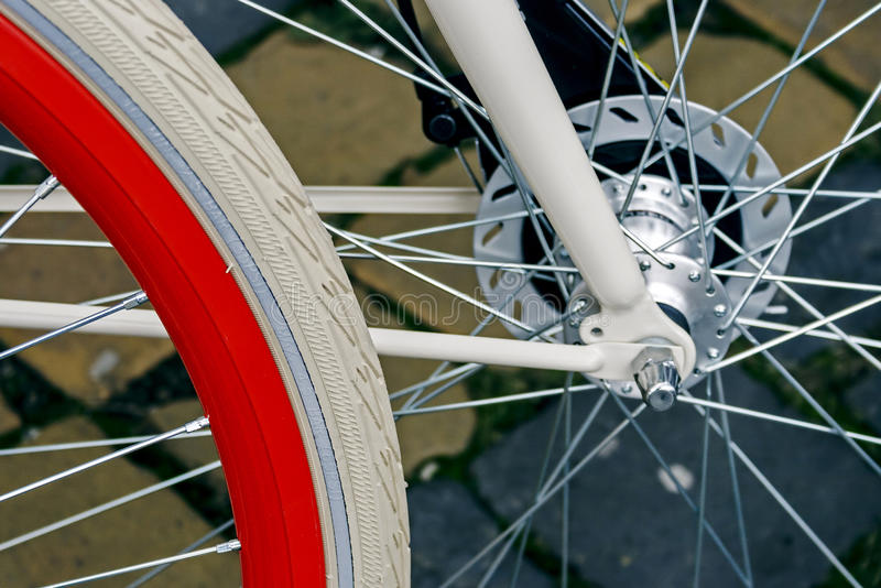 Download Bicycle wheel. Detail 6 stock photo. Image of front, bicycling - 33871572