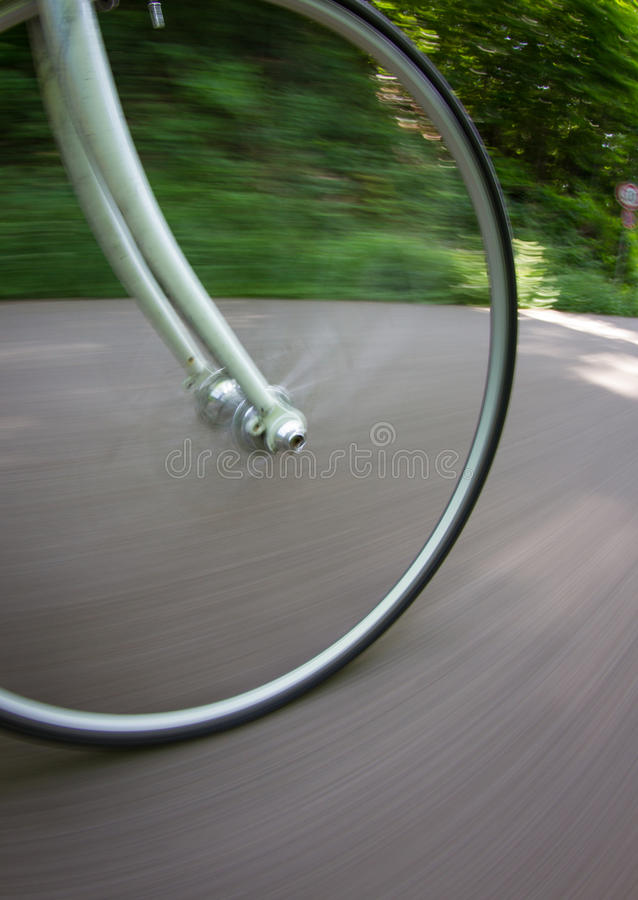 Free Bicycle Wheel In Motion Royalty Free Stock Image - 30216156