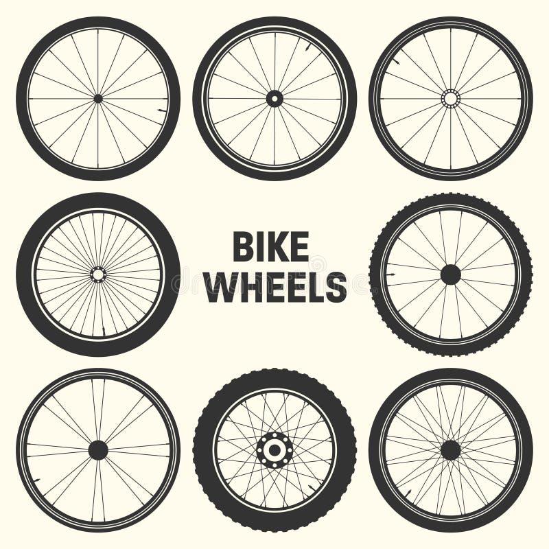 Bicycle wheel symbol vector illustration. Bike rubber mountain tyre, valve. Fitness cycle, mtb, mountainbike. Bicycle wheel symbol vector illustration. Bike stock illustration
