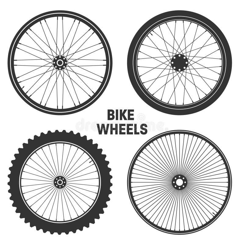 Bicycle wheel symbol vector illustration. Bike rubber mountain tyre, valve. Fitness cycle,mtb,mountainbike. Bicycle wheel symbol vector illustration. Bike stock illustration