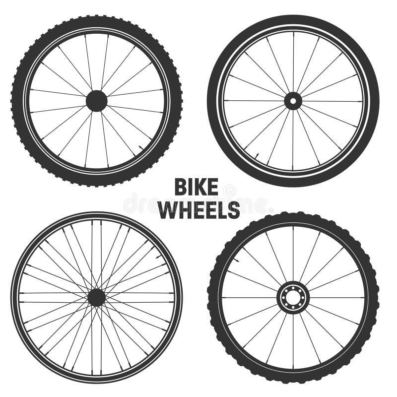 Bicycle wheel symbol vector illustration. Bike rubber mountain tyre, valve. Fitness cycle,mtb,mountainbike. Bicycle wheel symbol vector illustration. Bike royalty free illustration