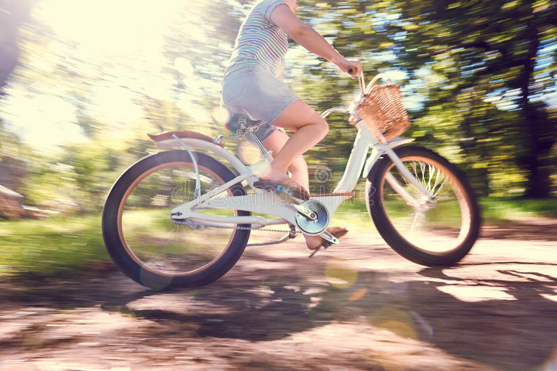 Bicycle woman royalty free stock photo