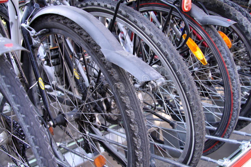 Download Bicycles stock photo. Image of parked, wheel, aluminum - 14256818
