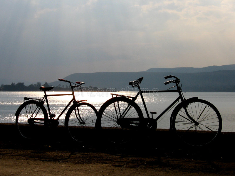 Download Bicycles stock image. Image of beautiful, colors, cloudy - 1464143