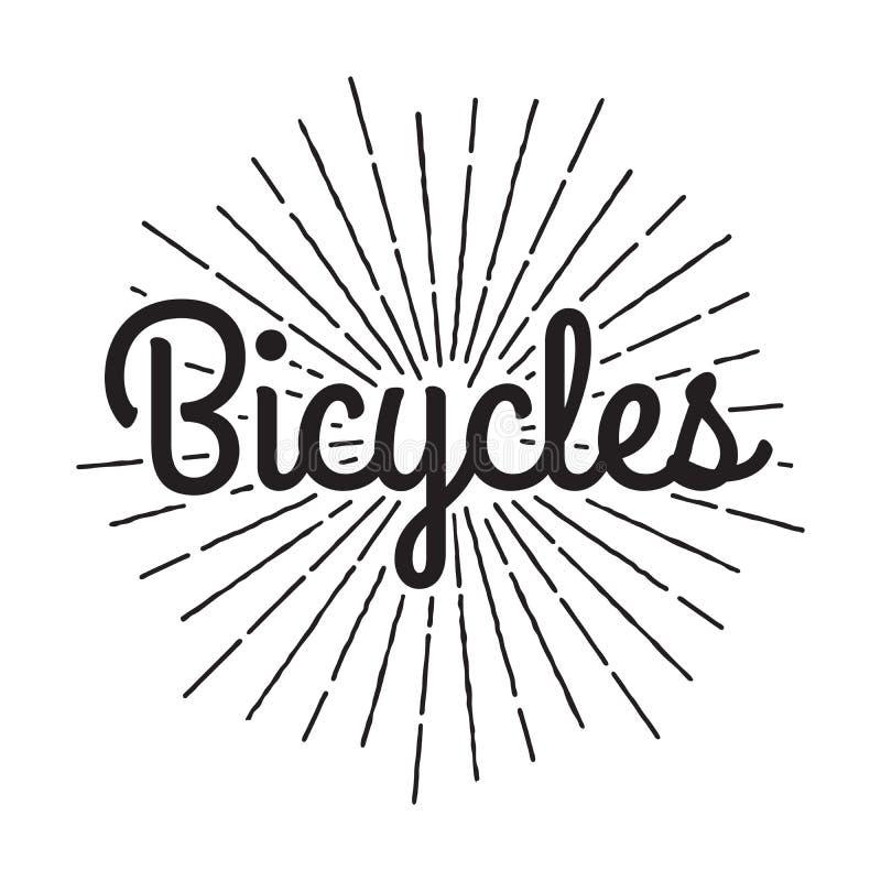 Bicycles Badge Label. Bike for you custom hipster shop rent vector illustration