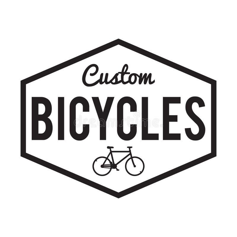 Bicycles Badge/Label. Custom Bike royalty free illustration