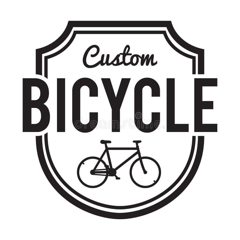 Bicycles Badge/Label. Custom Bike stock illustration