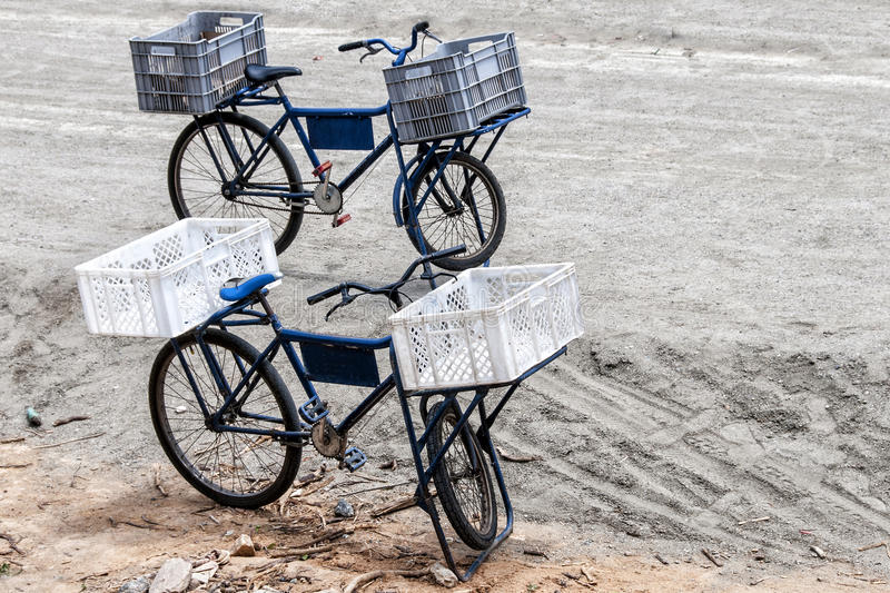 Bicycles cargo royalty free stock images