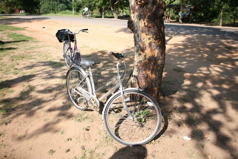 Bicycles for exploring Bagan stock images