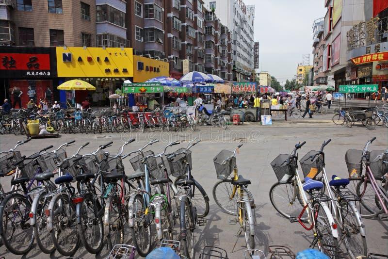 Bicycles, HoHot, Northern China Editorial Photo