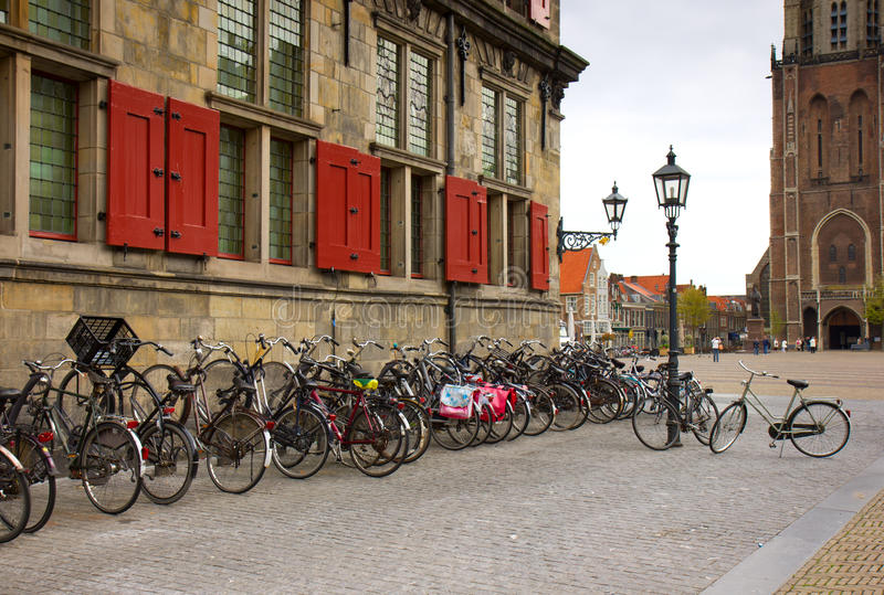Download Bicycles in Holland stock image. Image of city, town - 25357527