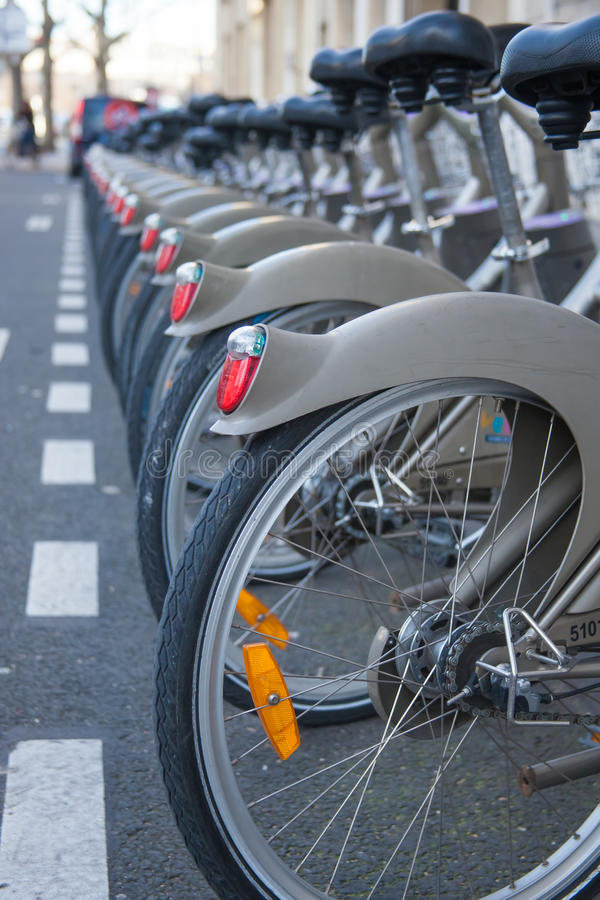 Free Bicycles In The Row Royalty Free Stock Image - 27418126