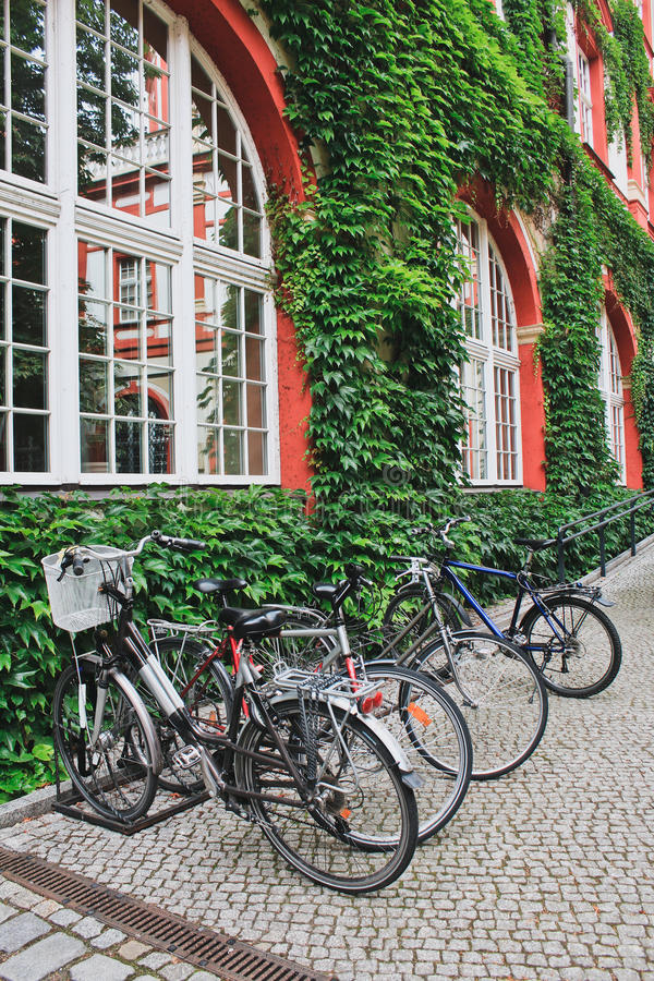 Bicycles parcked royalty free stock image