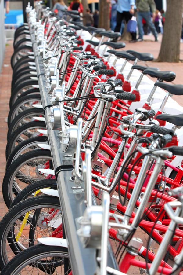 Download Bicycles Parked In City Barcelona, Spain Stock Photo - Image: 9423540