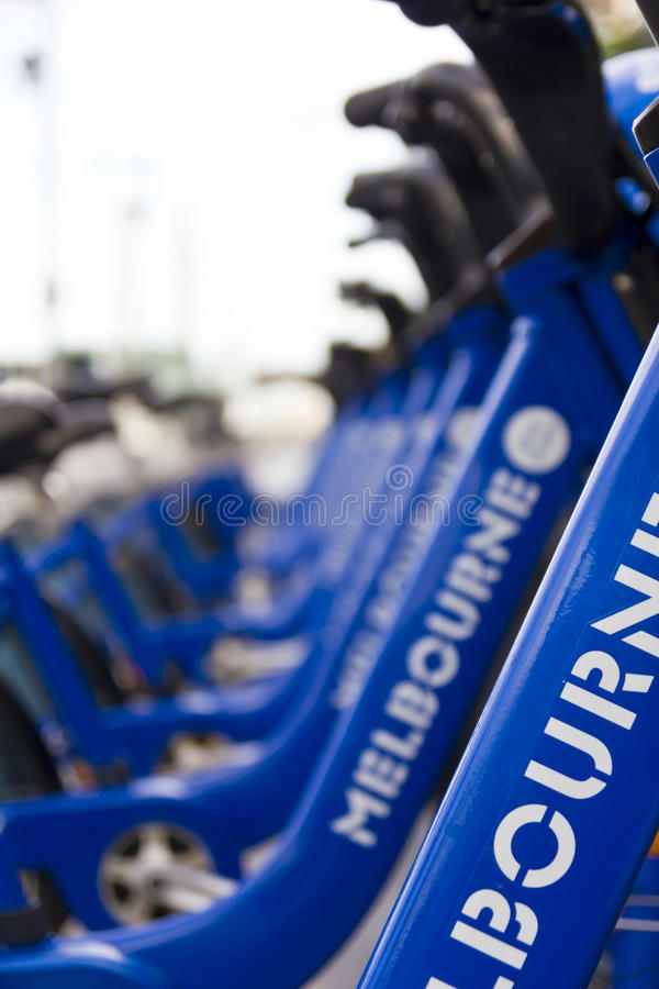 Download Bicycles parked in a row stock image. Image of detail - 31947249