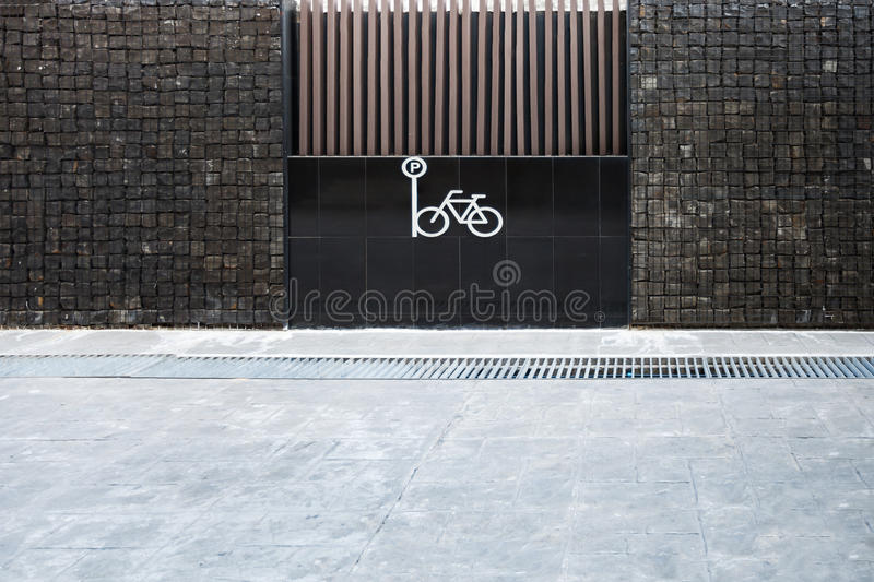 Bicycles parking. Urban parking space for bicycles royalty free stock image