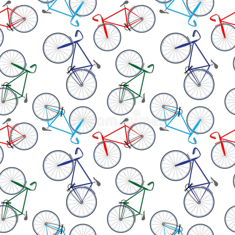 Download Bicycles pattern stock vector. Illustration of transportation - 26385681
