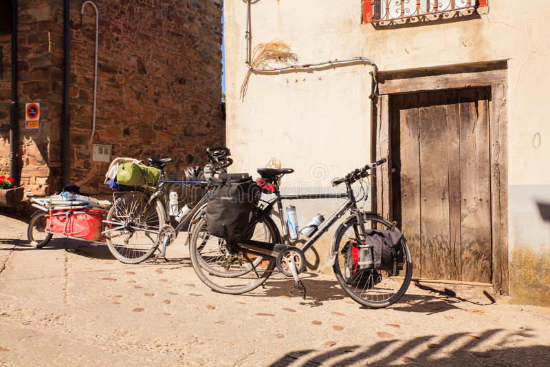 Bicycles of pilgrimn royalty free stock image