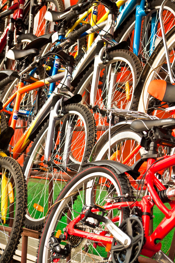 Download Bicycles for sale. stock image. Image of many, protection - 14229089