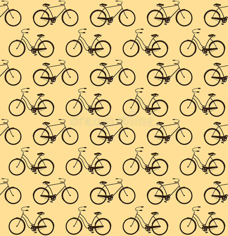 Download Bicycles seamless stock illustration. Illustration of retro - 30768413