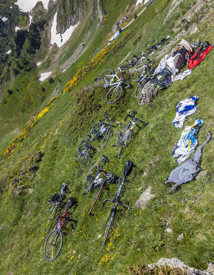 Download Bicycles On The Slopes Of The Mountain Editorial Photo - Image: 38951591